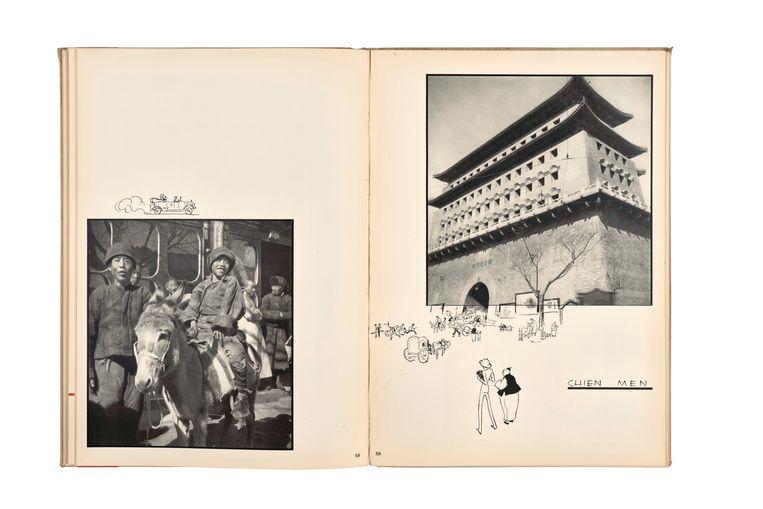 Twee pagina's uit het boek Peking Studies (1934). Beeld Ellen Thorbecke / Friedrich Schiff / Nederlands Fotomuseum