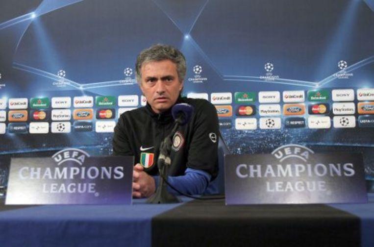 José Mourinho tijdens een speciale persconferentie. ANP Beeld