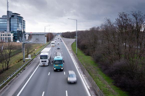 De snelweg E19 Antwerpen-Brussel ter hoogte van Mechelen-Noord.
