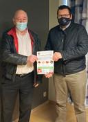 Freddy de Tant, algemeen manager van KFC Voorde-Appelterre met organisator Jeroen Wiggeleer van Jeroen Events.