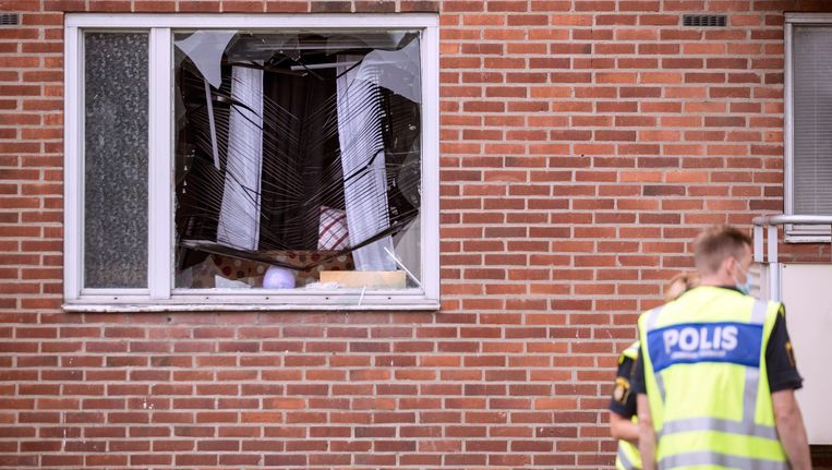 De explosie vond plaats in Biskopsgarten, Göteborg. Beeld AP