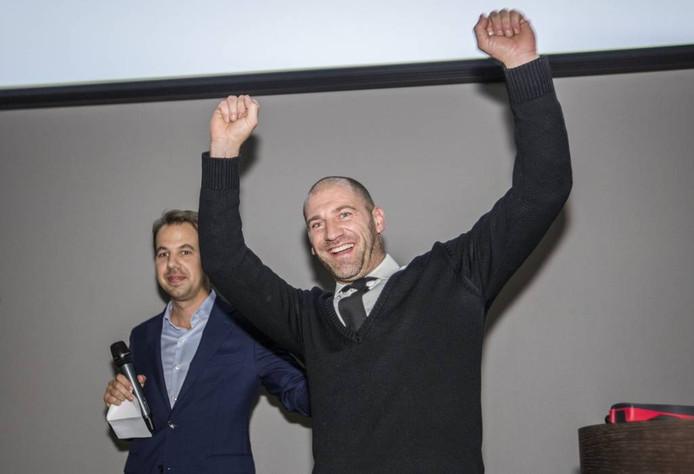 Bart Houben werd met zijn sportworstenbroodje winnaar van het eerste Scale Up Event.