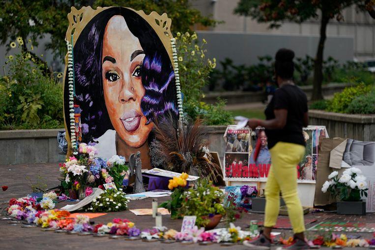 De gedenkplaats voor Breonna Taylor in Louisville. Beeld REUTERS