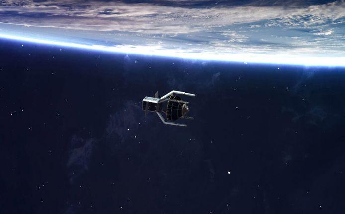 De nog te bouwen ruimtesonde moet straks kapotte satellieten opruimen.