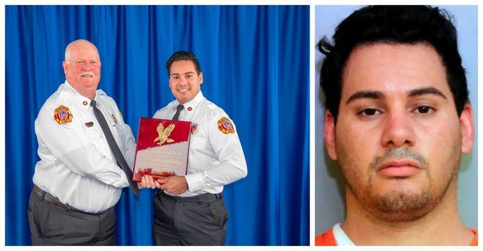 Josh Colon kreeg enkele weken geleden nog een oorkonde. Rechts: zijn arrestatiefoto.