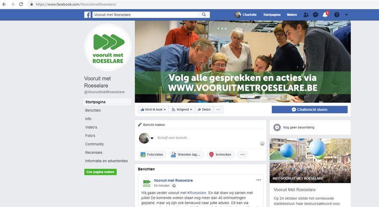 Via de Facebookpagina Vooruit met Roeselare kun je de opmaak van het bestuursakkoord volgen en ook zelf input geven.
