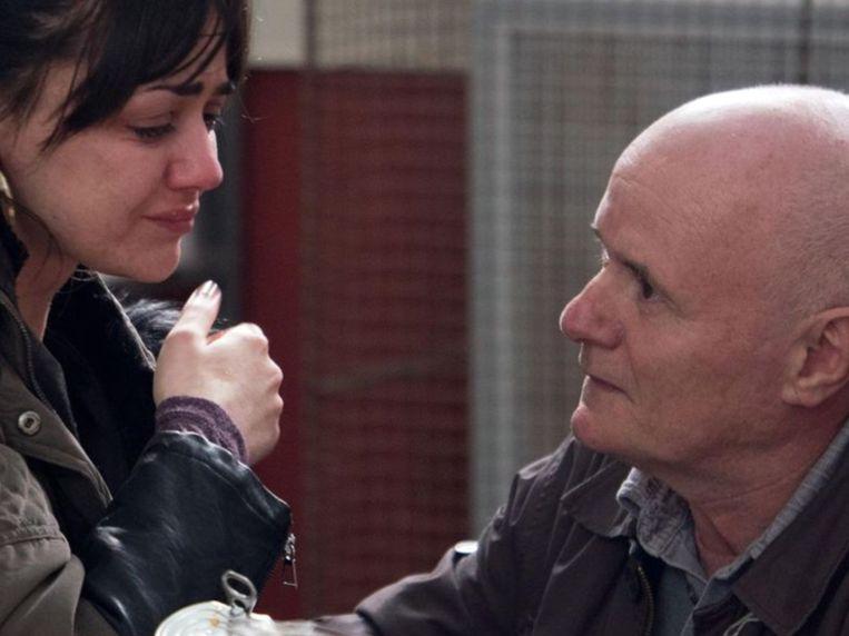 Hayley Squires en Dave Johns in I, Daniel Blake van Ken Loach Beeld