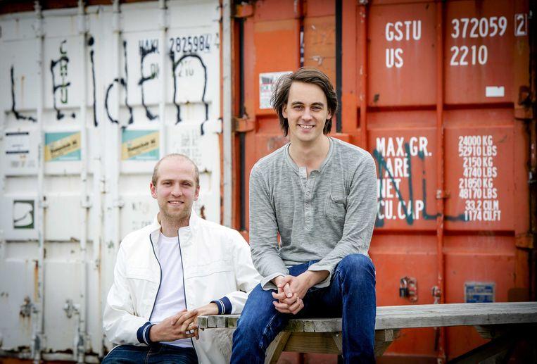 Marten Blankesteijn en Alexander Klöpping bij de lancering van Blendle Beeld anp