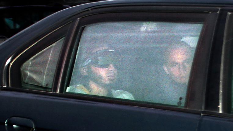 Verdachte Samir A. arriveert vrijdag bij de 'bunker' in Amsterdam, in oktober 2006 Beeld anp