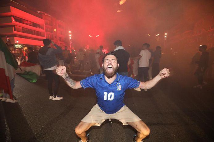 Feest in Genk na winst van de Italianen op het EK.