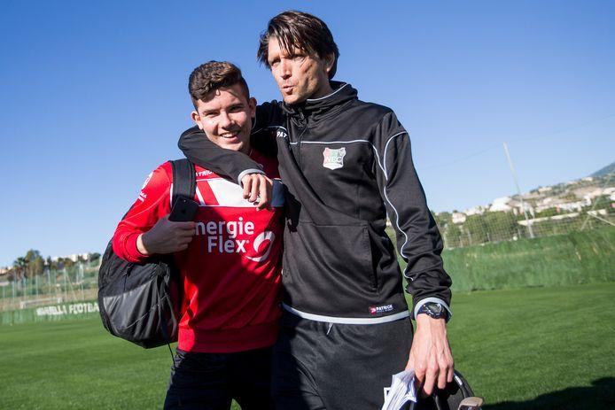 Ferdi Kadioglu en NEC-coach Peter Hyballa.