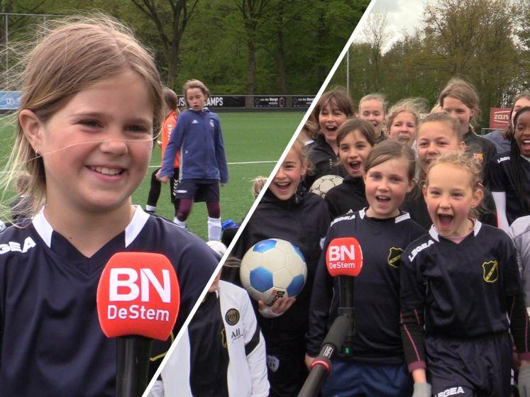 Wat doe je in de meivakantie: 'Trainen als een prof tijdens het NAC meidenvoetbalkamp'