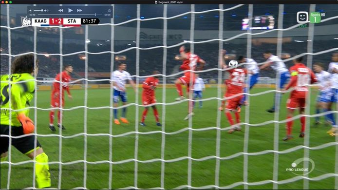 Gent en Janga zien een goal afgekeurd door de VAR na nochtans geen clear error.