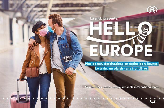 """Opération """"Hello Europe"""" de la SNCB"""