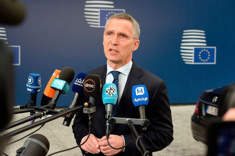 NAVO-topman Jens Stoltenberg. Beeld AFP