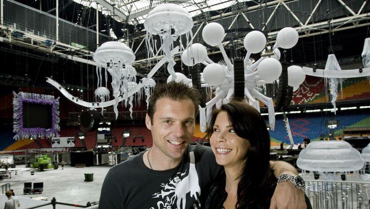 Duncan Stutterheim en zijn vrouw Lisa. Foto ANP Beeld