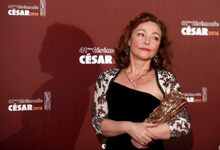 Catherine Frot met haar César Beeld REUTERS