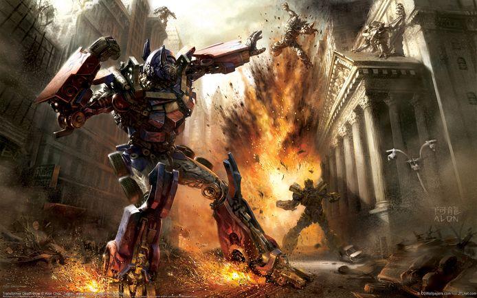 Beeld uit een van de Transformer-films.