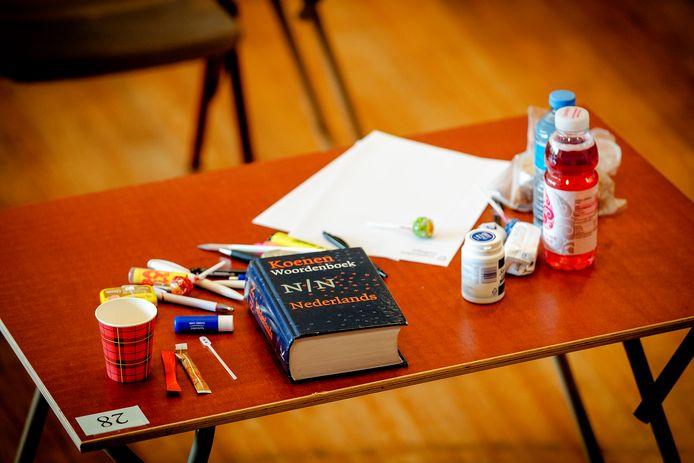 Examens op een middelbare school. Foto ter illustratie.