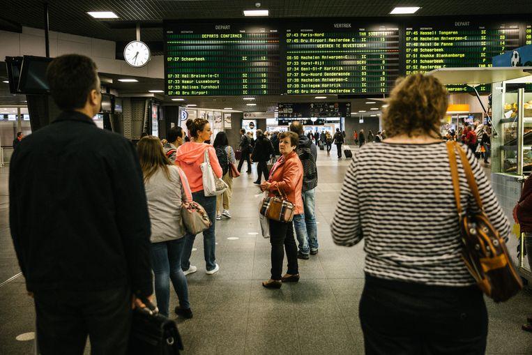 Brussel-Zuid is een van de stations die beter in de gaten zullen worden gehouden. Beeld Wouter Van Vooren