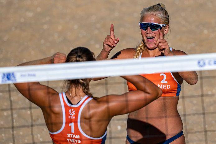 Raïsa Schoon (2) kan lachen: ze gaat met Katja Stam naar de Olympische Spelen. FOTO ANP
