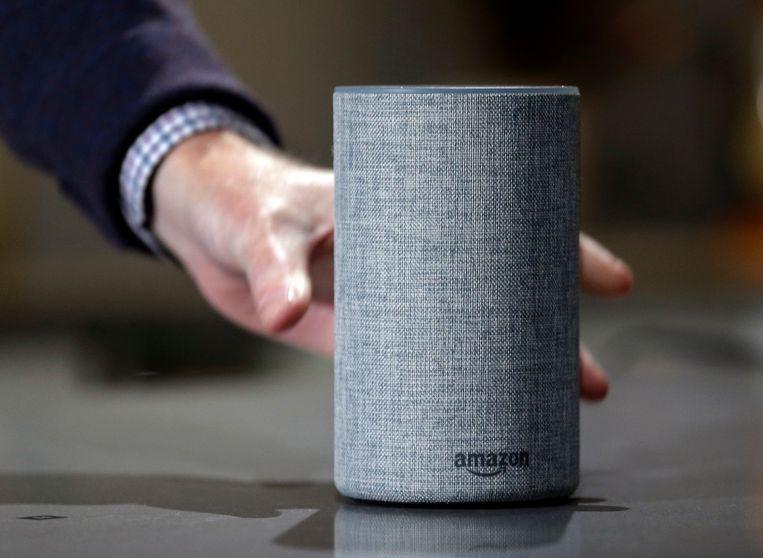 Alexa, de spraakassistent van Amazon, bewaart alles wat u haar toevertrouwt.  Beeld AP