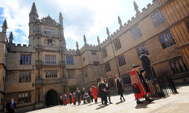 Exterieur van de Bodleian bibliotheek van Oxford University Beeld EPA