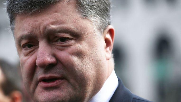 De Oekraïense president Petro Porosjenko. Beeld afp