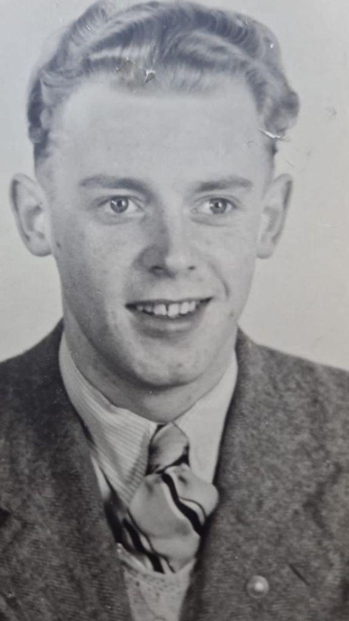 Onderduiker Jan Westra.