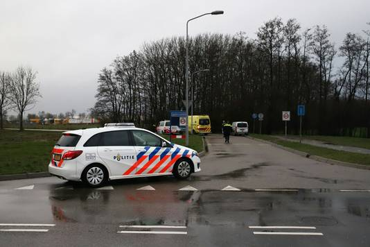 De locatie van de steekpartij in Geldermalsen.