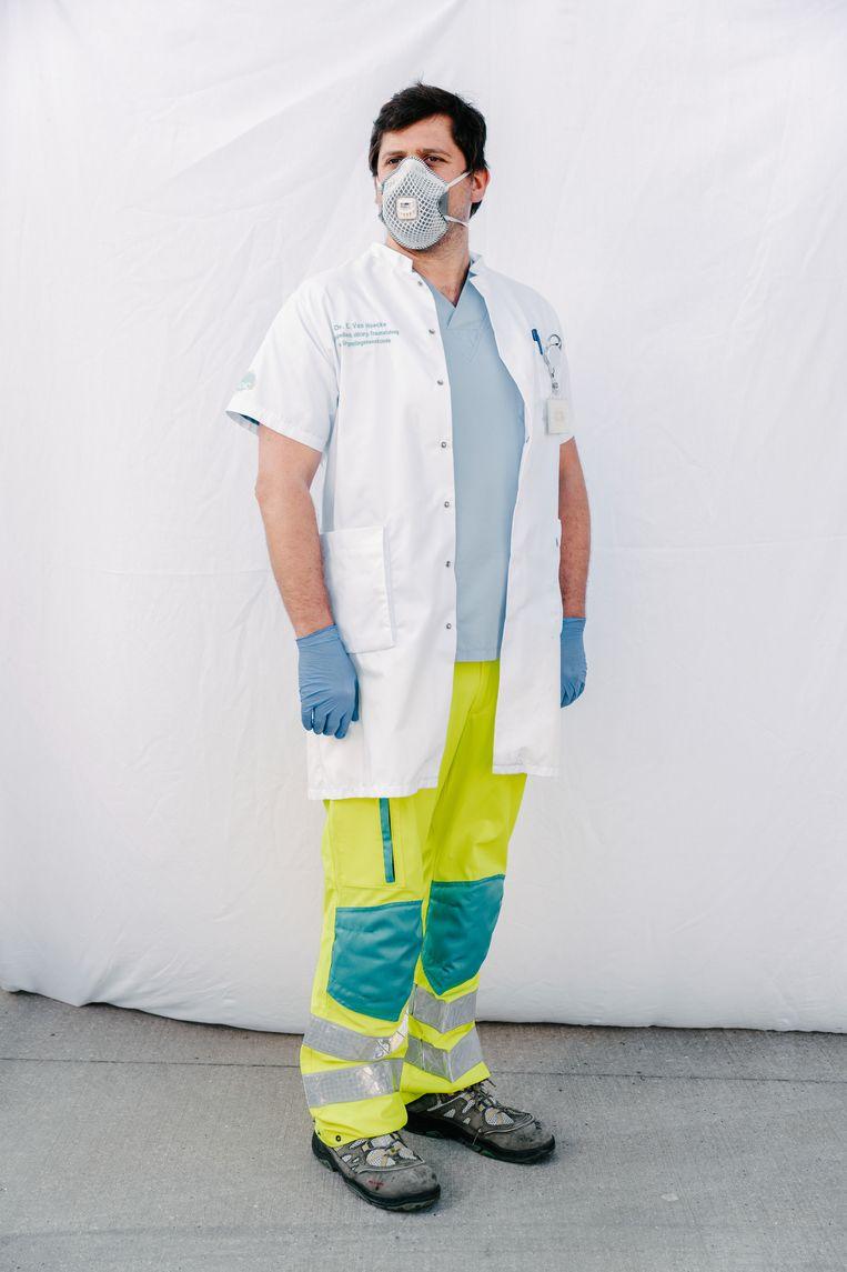 Dokter Van Hoecke, spoedarts in het AZ Zeno Knokke. Beeld Damon De Backer