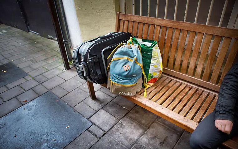 De spullen van een dakloze. Beeld Maarten Hartman