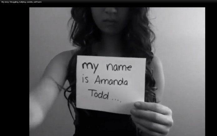 Voor haar zelfmoord maakte Amanda Todd een indrukwekkende video, waarin ze uitlegt hoe erg ze onder druk was gezet.