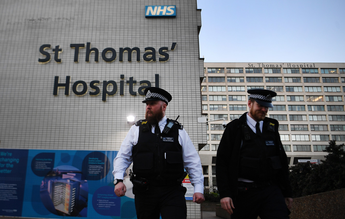 Het ziekenhuis waar Johnson op de intensive care ligt.