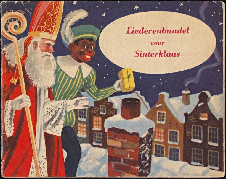 Bundel met Sinterklaasliedjes, uit de jaren vijftig van de vorige eeuw. Beeld Collectie Koninklijke Bibliotheek