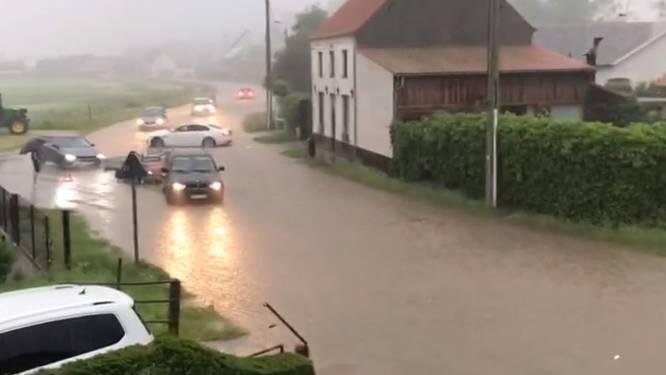 Verschillende straten in Lede en Erpe-Mere onder water door hevige regen
