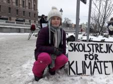 Zweedse klimaatstrijdster moedigt Nederlandse spijbelaars aan: Wat jullie doen is geweldig!