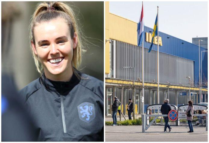 Jill Roord (links) en IKEA (rechts)