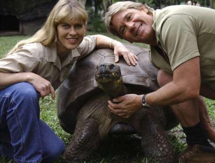 Steve Irwin en z'n vrouw Terri.