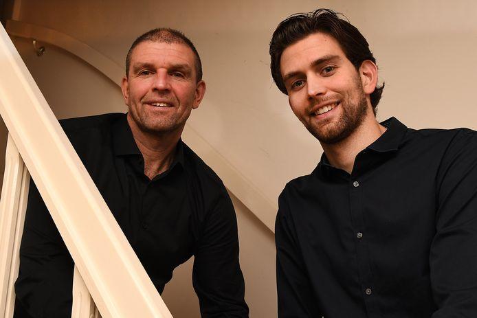 John van Geenen met zoon Camiel, die hij trainde bij zijn laatste club DWSH'18.