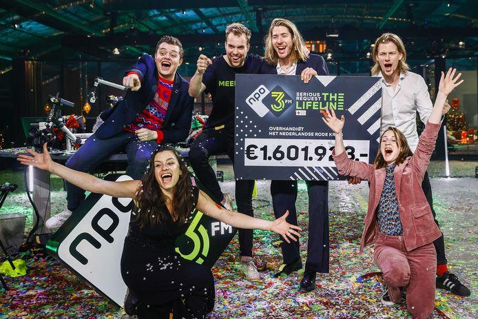Vorig jaar was het evenement in Twente en haalde de zes 3FM-dj's een mooi geldbedrag op.