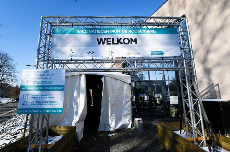 Het vaccinatiecentrum van Oud-Heverlee. Beeld Photo News