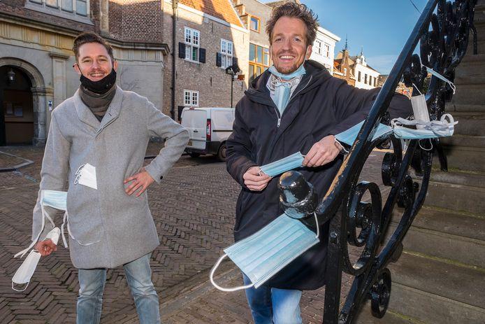 Dirk Beijer (links) en Leon Bunnik hopen op hét idee tegen zwerfkapjes.