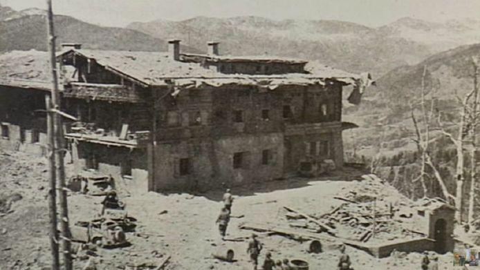Hitlers berghof na het bombardement door de geallieerden in 1945.