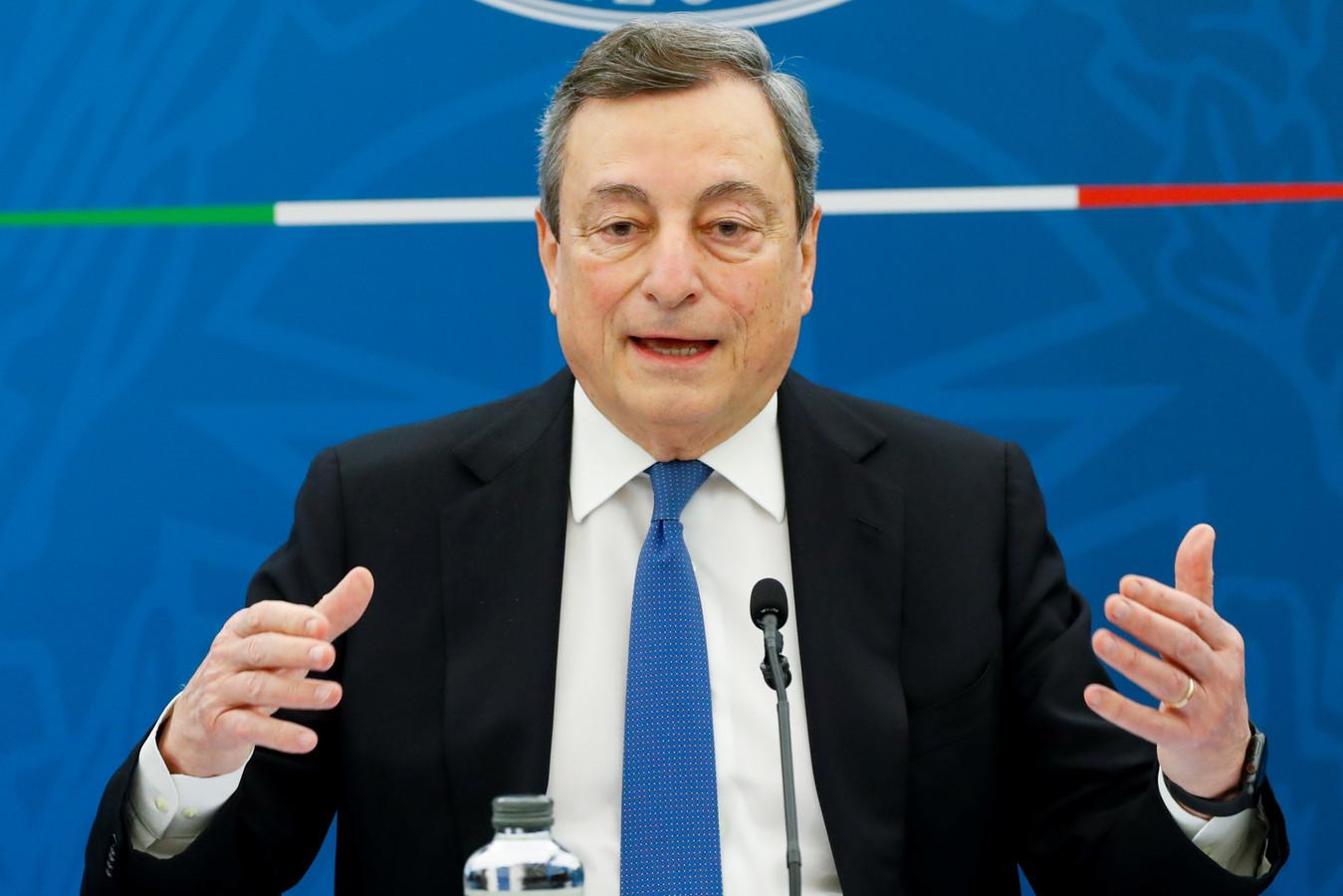 Le Premier ministre italien Mario Draghi