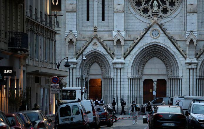 La basilique Notre-Dame de Nice, ce 29 octobre.