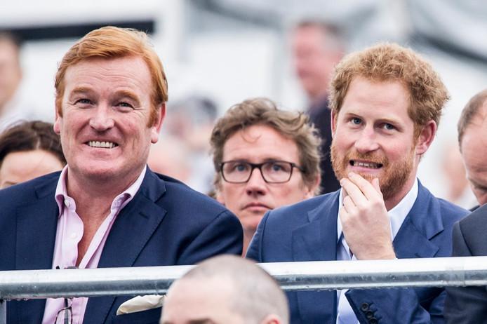 Le prince Harry et Mark Dyer.