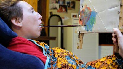 Brenda's kunst te zien in 'Familie'