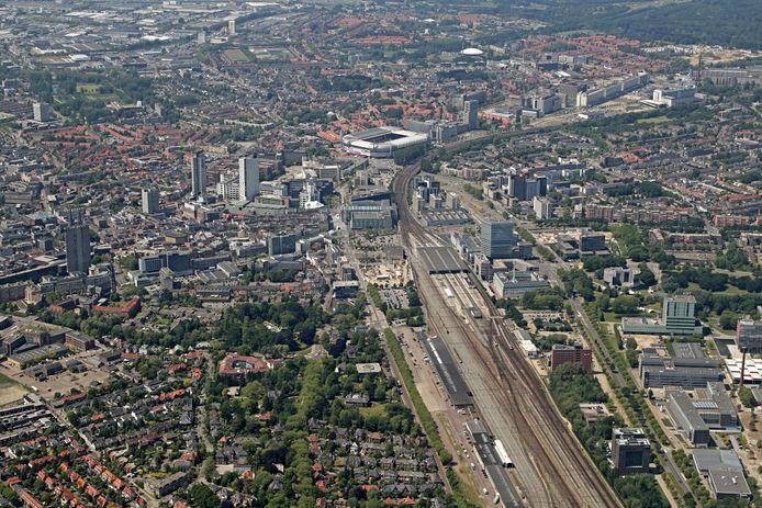 Een archieffoto van de spoorzone in Eindhoven.