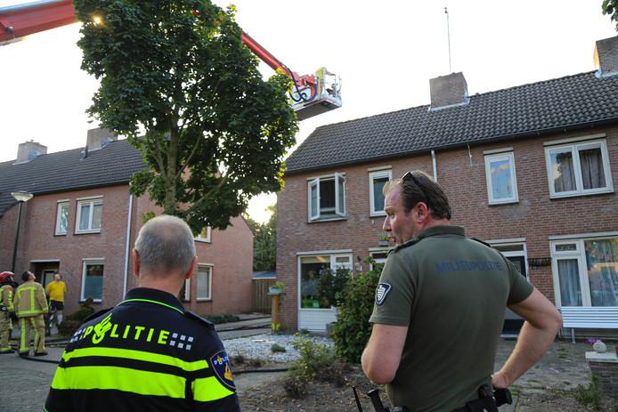 De brand in Bakel zorgde voor veel schade.